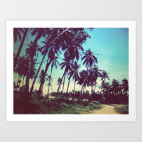 Road of palm trees Art Print by Istillshootfilm