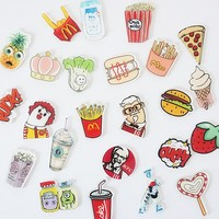 Creative cartoon cute Hamburg French fries Solid acrylic fridge magnets