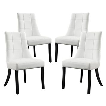 Noblesse Faux Leather Dining Chair Set of 4