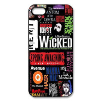 New Broadway Phantom of The Opera Wicked Cat Jigsaw Print Pattern Hard Cover Case for iphone 4/4s/5/5s/5c/6/6s/6plus/6s plus