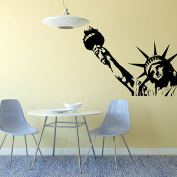 Lady Liberty USA Statue Liberty Large Decal  Made To order Fast Production Shipping within 24 hours...Several Color Opt