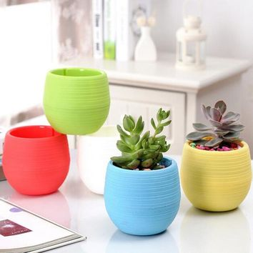 3pcs Mini plastic flower pots - Perfect for home office decor or bonsai planter