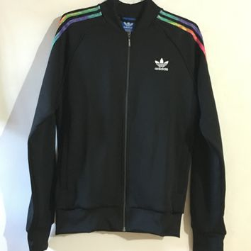 Adidas Original LGBT Rainbow Graffiti Jacket Coat