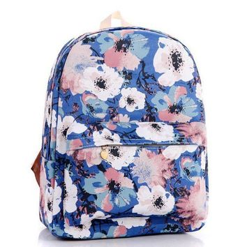 CREYON Day First Floral Painting Canvas Lightweight Backpack