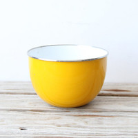 Large Yellow Metal Bowl