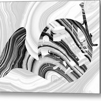 Marbled Music Art - French Horn - Sharon Cummings Metal Print