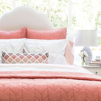 The Chevron Coral Quilt & Sham
