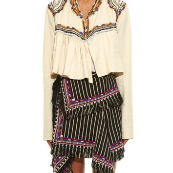 Sabriel embroidered pleated jacket | Isabel Marant | MATCHESFASHION.COM US