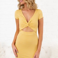Work Through It Striped Dress (Yellow)
