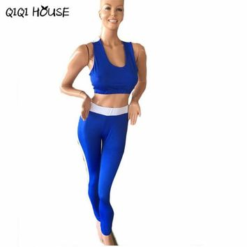 Trousers Women Suit Bra+Leggings Two-piece Outfit Slim Pants For Women Roupas Femininas Fitness#C811