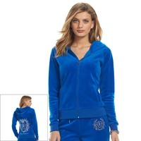 Juicy Couture Embellished Velour Hoodie - Women's, Size: