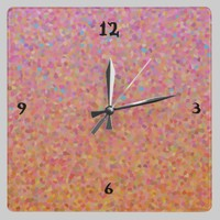 Cotton Candy Sky Clock from Zazzle.com