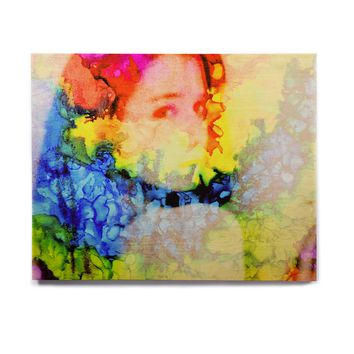 "Claire Day ""Clairefied"" Rainbow Paint Birchwood Wall Art"