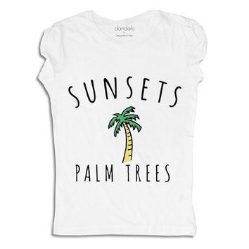"T-Shirt ""Palm Trees"""