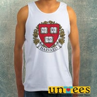 Harvard University Logo Clothing Tank Top For Mens