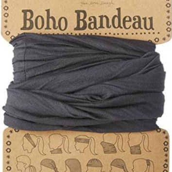 Natural Life Women's Solid Boho Bandeau Headband,Black