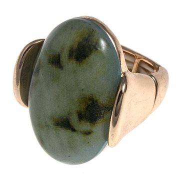 Faceted Stone Accent Stretch Ring