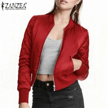 ZANZEA Thick Quilted Bomber Jacket/Coat for Women