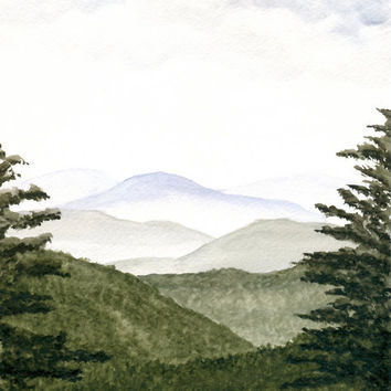 Mountains Landscape Painting Original by ABFoleyArtworks on Etsy