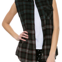 The Dip Dye Flannel Top