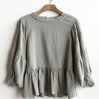 Abigail Extended Ruffle Top