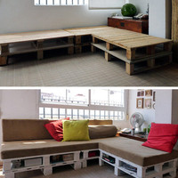 DIY Pallet Sofa Inspiration cuartoderecha | Apartment Therapy San Francisco