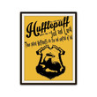 Hufflepuff Harry Potter Sorting Hat Typography Poster Print