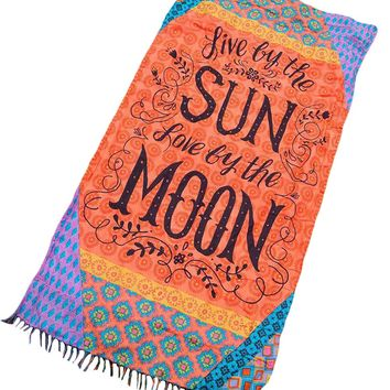 Chicloth Enjoy Sun and Moon Beach Towel Blanket