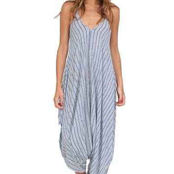 Blue & White Printed Genie Jumpsuit at Blush Boutique Miami - ShopBlush.com : Blush Boutique Miami – ShopBlush.com