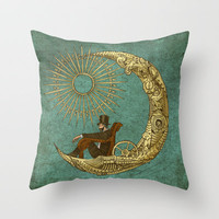 Moon Travel Throw Pillow by Eric Fan