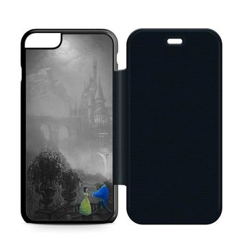 Beauty and the Beast Black Leather Wallet Flip Case iPhone 6 Plus | 6S Plus