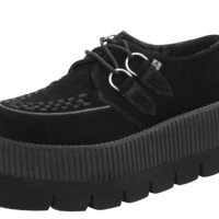 Lug Sole Black Suede Creepers