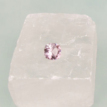 Light Rosy Pink Spinel Square Cushion Shape for Fine Gemstone Jewelry Engagement Ring Morganite Alternative
