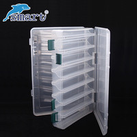 Waterproof Fishing Tackle Box Double Sided 12 Compartments Fishing Lure Boxes Caja Pesca Accessories Seperate Suitcase De Peche