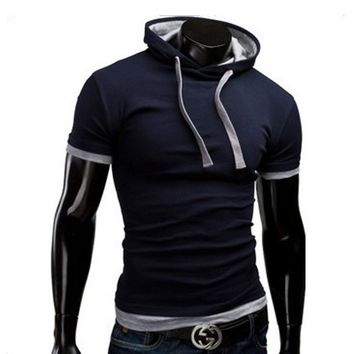 Hooded Short Sleeve Men's Fashion T-Shirt – Sneak Outfitters