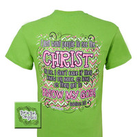 Girlie Girl Originals Know My God Christ Chevron Christian Bright T Shirt