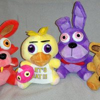 FNAF Five Nights at Freddy's Fan-made Plushie Set