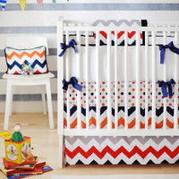 New Arrivals Zig Zag Baby in Rugby Baby Bedding