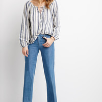 Boxy Mixed Stripe Blouse