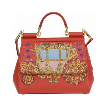 DOLCE & GABBANA Red Medium sicily bag