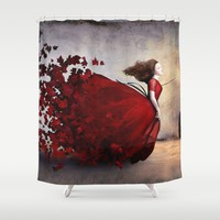 Amor Shower Curtain by Christian Schloe