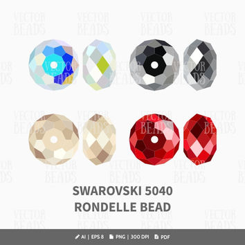 Swarovski 5040 Rondelle Bead Vector Graphic - ai, eps, pdf, png