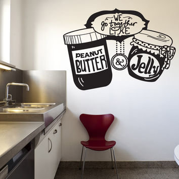 Vinyl Wall Decal Sticker Peanut Butter and Jelly #OS_DC583