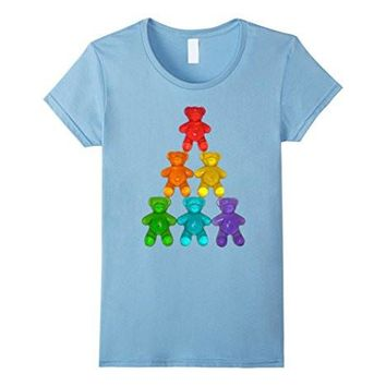 Chewy Bear Shaped Gummy Candy T Shirt Delicious Fruity Treat