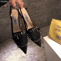 Prada  Women Casual Shoes Boots  fashionable casual leather
