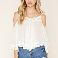 Embroidered Open-Shoulder Top | Forever 21 - 2000186539
