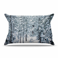 "Juan Paolo ""Winter Trials"" White Snow Pillow Case"