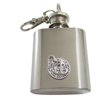 Nautical Rope and Anchor 1 Oz. Stainless Steel Key Chain Flask