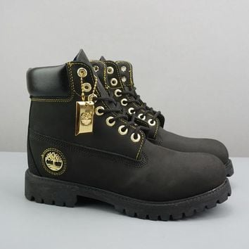 Timberland Leather Lace-Up Icon Premium Boot High Black