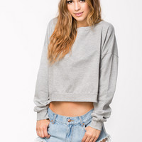 VIPPA LIGHT GRAY CROPPED TOP SWEATER